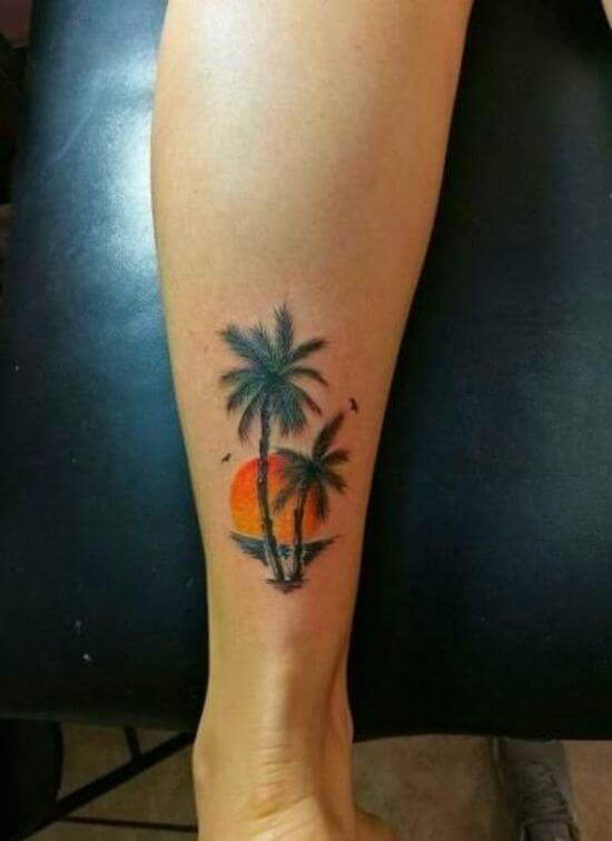Palm tree tattoo designs