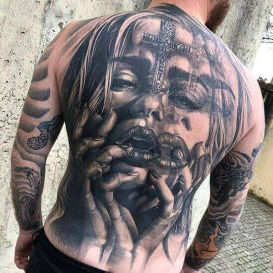 Best Back tattoos for men 1