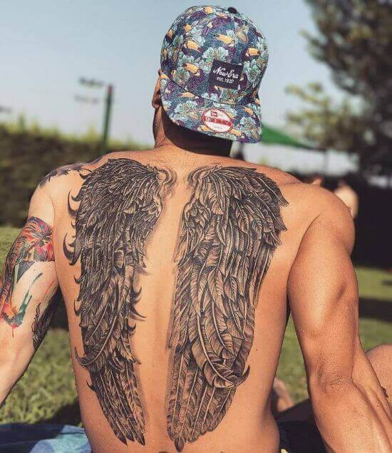 Best Wings Back tattoos for mens