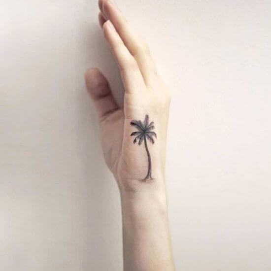 Best palm tree tattoo for women