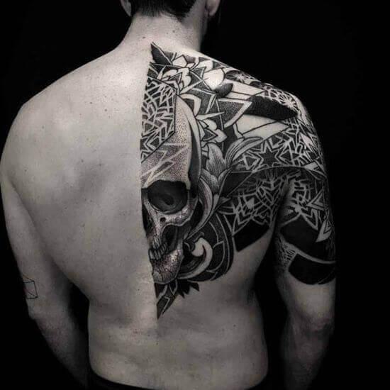 Black ink tattoo