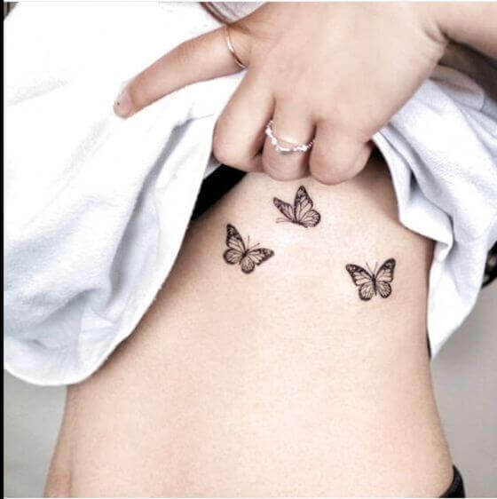 Butterfly Tattoos on women ribcage (1) (1)