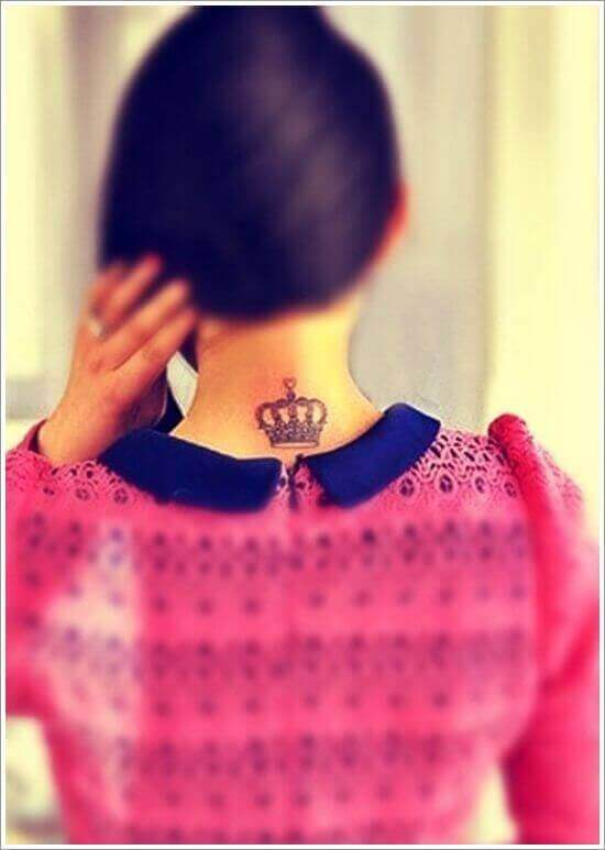 Cute and simple Crown tattoos for women