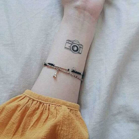 Ever Best Camera Tattoo Designs on Wrist for women