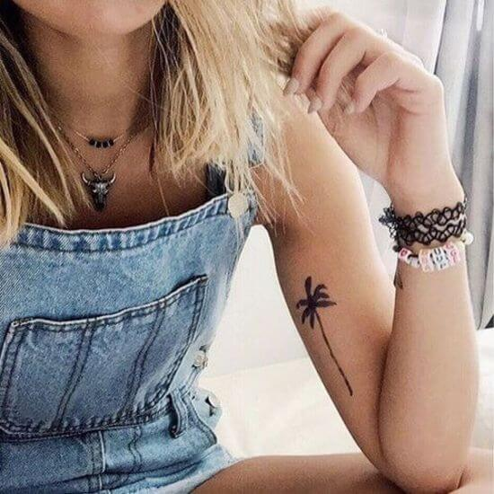 Palm tree tattoo for tree lovers