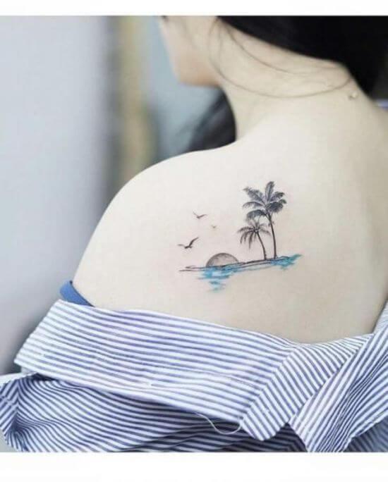 Shoulder back tattoo