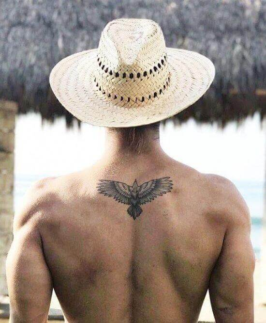 Small back tattoos for men