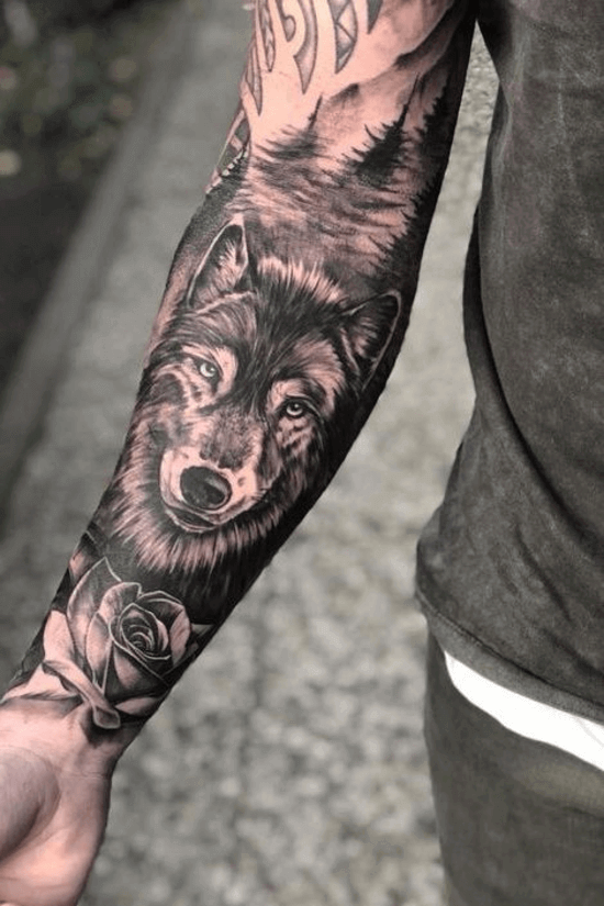 Wolf Forearm Tattoo Designs
