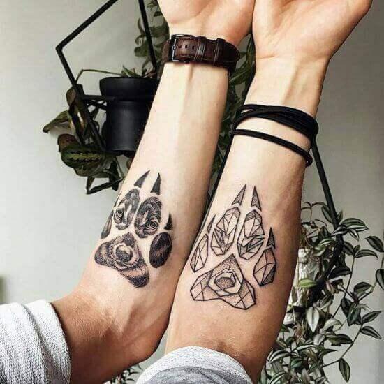 Wolf's Paw Tattoo