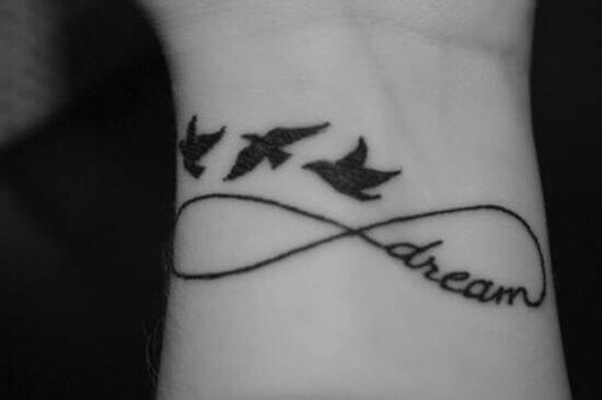 Best Dream Infinity Tattoos Ideas with Birds