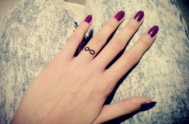 Best Infinity Tattoos Designs on Finger