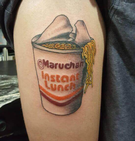 Cup Noodles Tattoo ideas on thigh