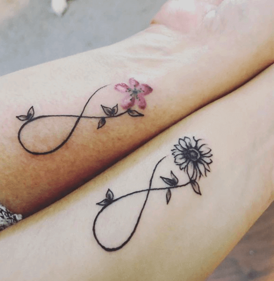 Flower and Infinity Tattoo image