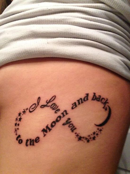 Infinity Tattoo Designs with Love Quote