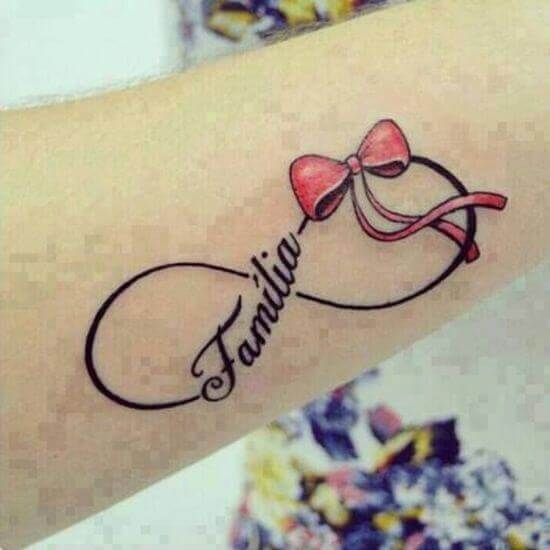 Infinity Tattoo with a Bow