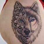 Mandala Wolf Tattoo designs