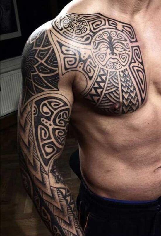 Maori Polynesian Tattoo Dersign