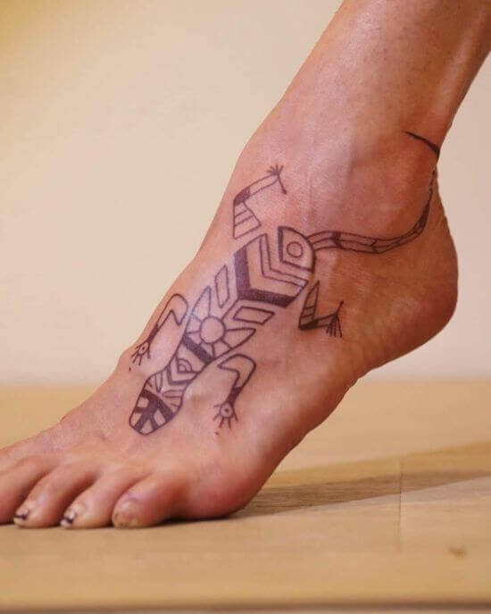 Polynesian Lizard Tattoo