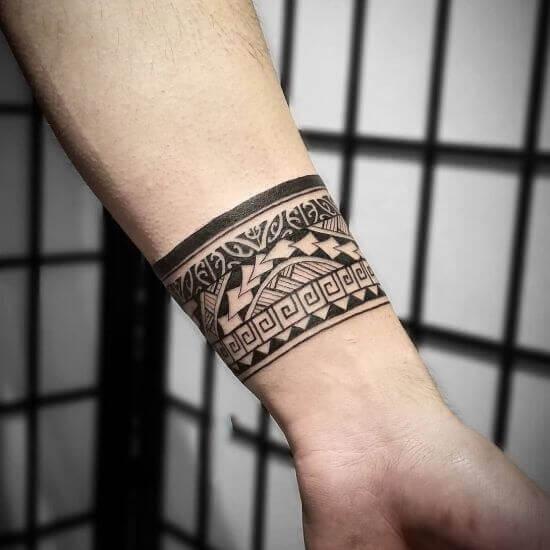 Best Polynesian Wrist Tattoo Designs