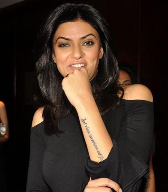 Sushmita Sen's tattoo