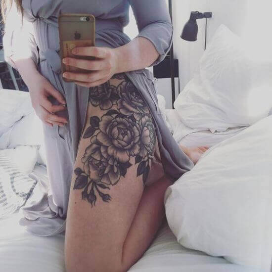 Thigh Tattoo Placement for boy and girls