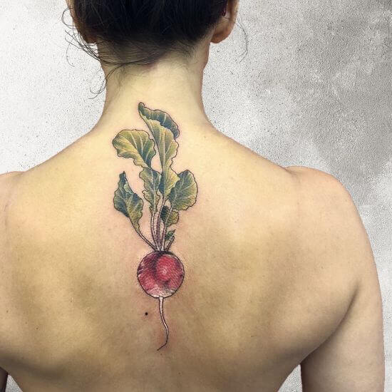 Turnip back Tattoo