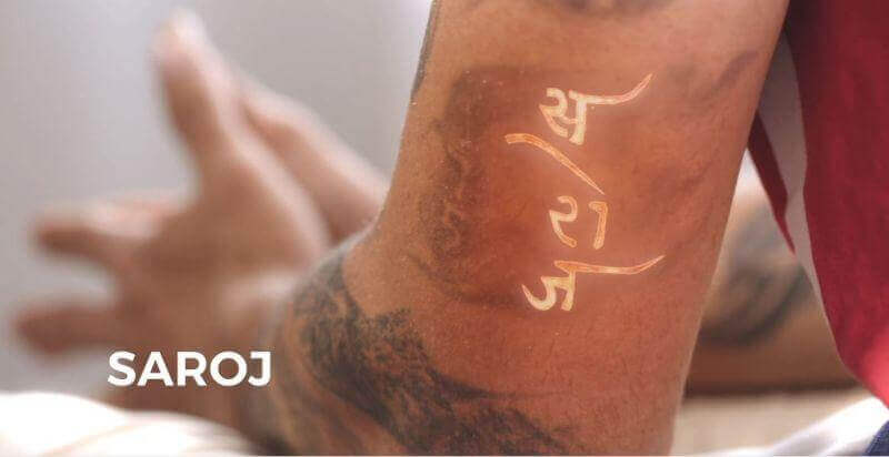 Virat Kohli's mother's name tattoo Saroj
