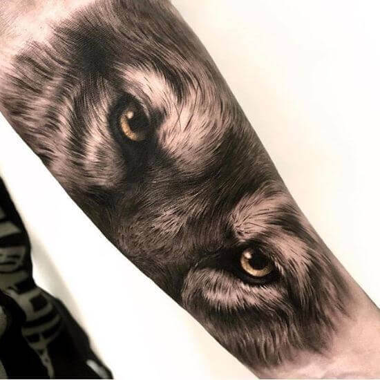 Wolf Eyes Tattoos Ideas
