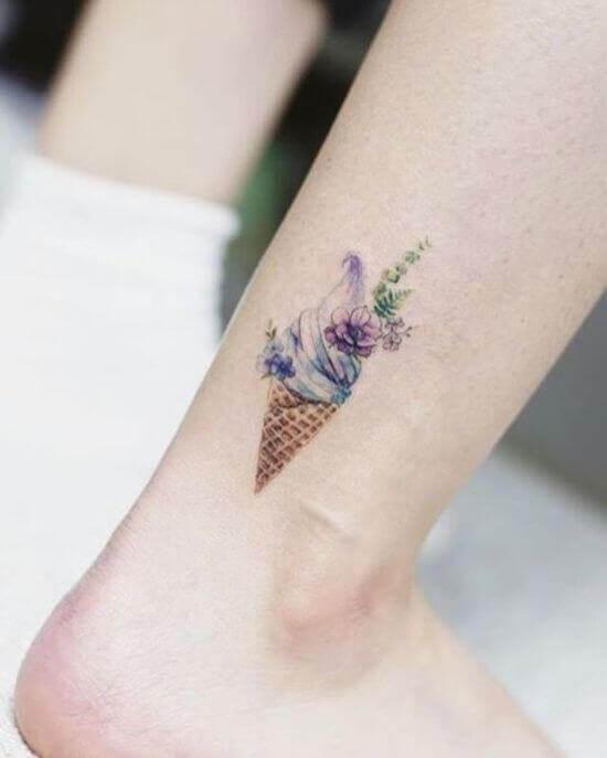 Beautiful Ice cream tattoo designs for girls