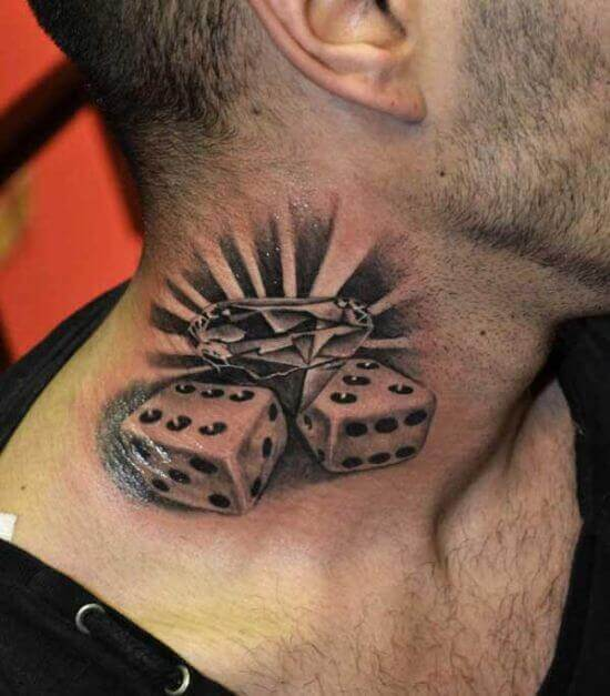 Best Neck Dice tattoo Ideas