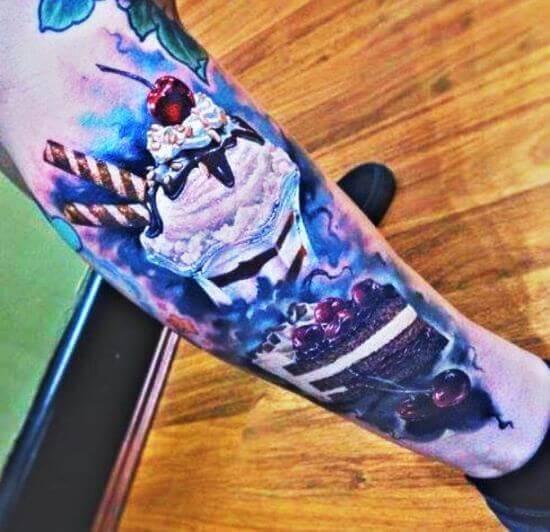 Ice cream Tattoo designs on arm
