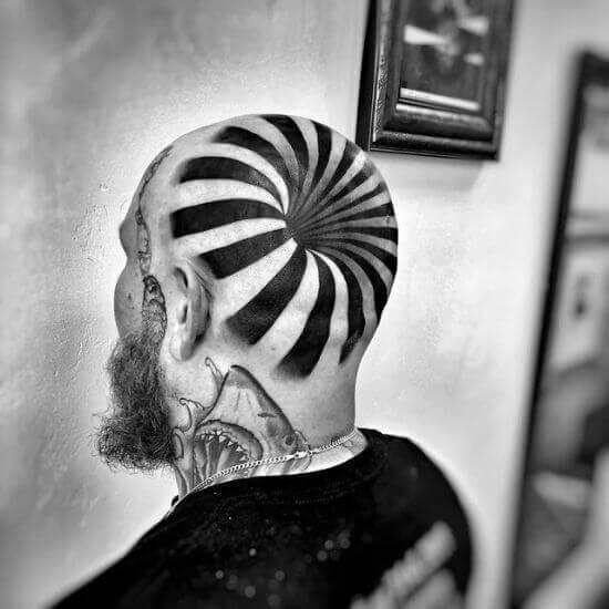 3d Head tattoo image