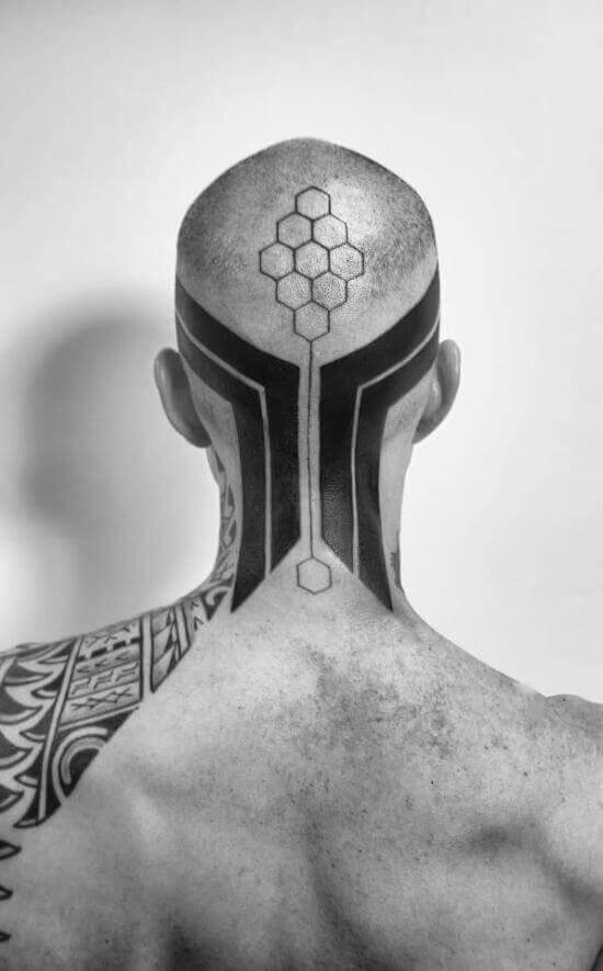 Amazing Head tattoo art on men