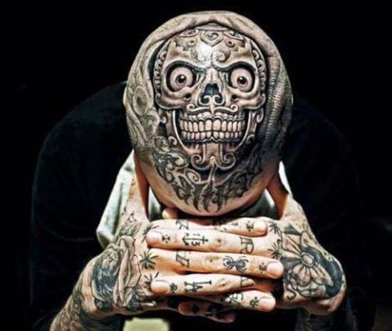 Creative Head tattoo image