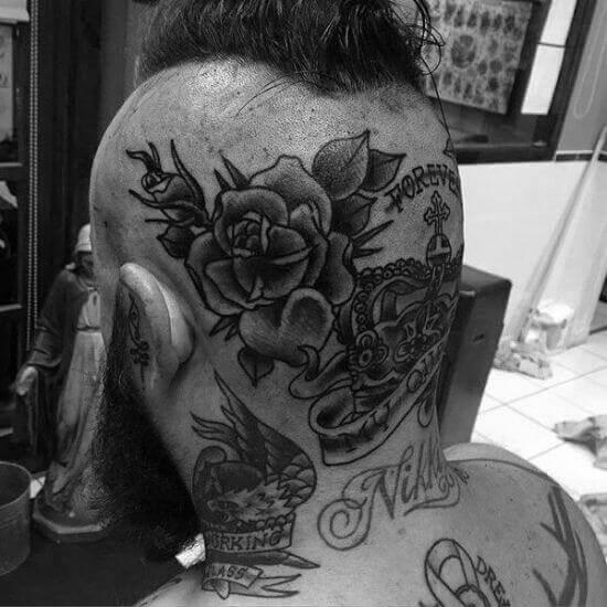 Flower Head tattoo designs