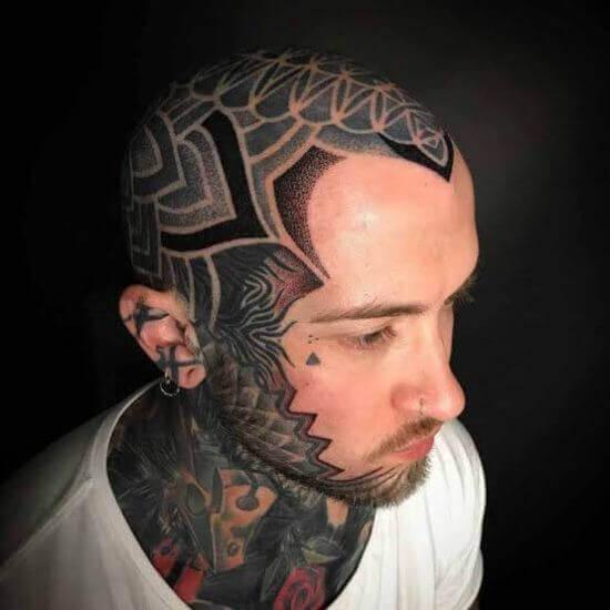 Full Head tattoos designs