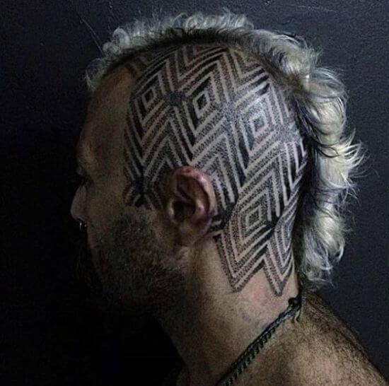 One side Head tattoo ideas