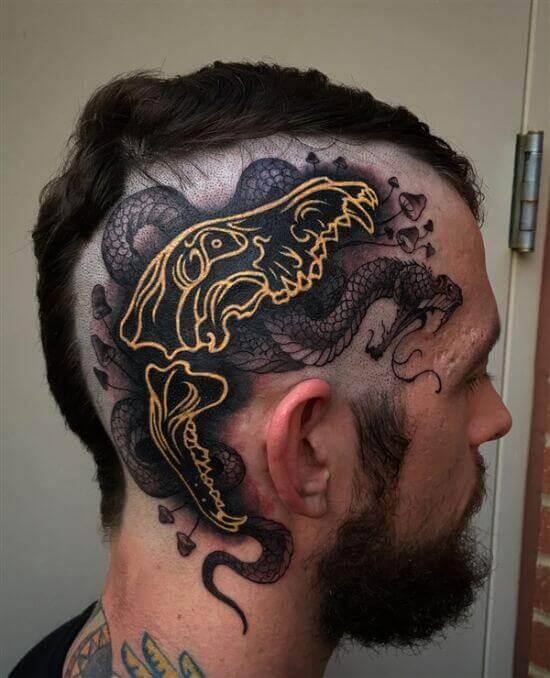 crazy men head tattoo ideas