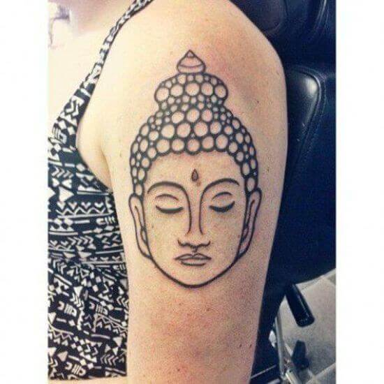 face of Buddha tattoo