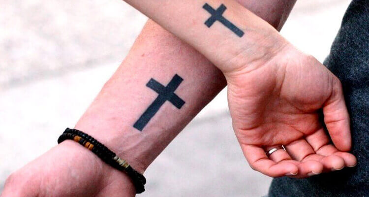 35 Superb Small Cross Tattoo Designs