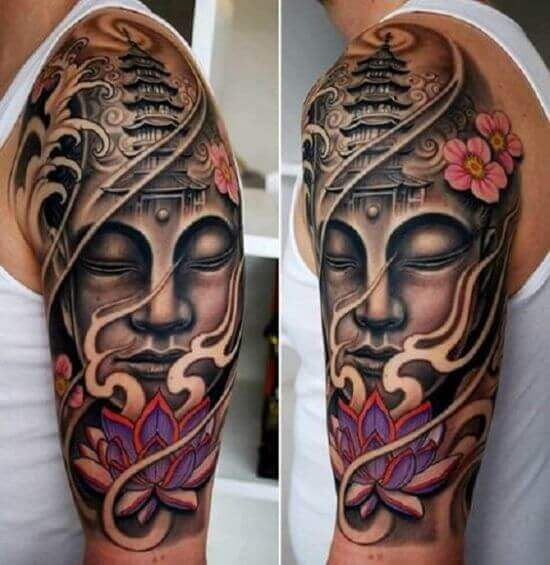 Buddha arm tattoos designs