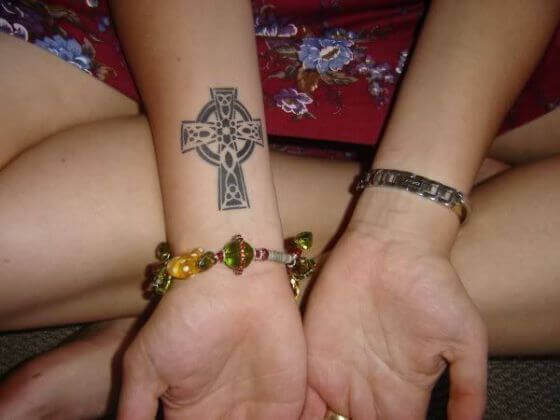 Celtic Cross Tattoo Ideas on Hand
