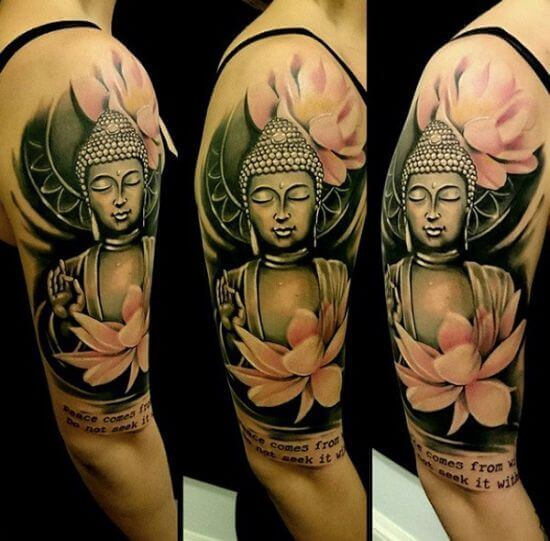 Colorful Buddha tattoo Designs