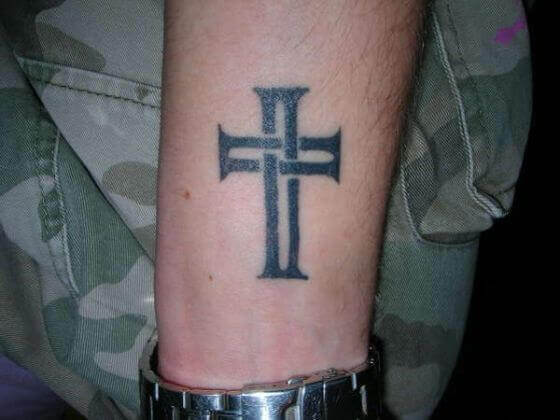 Crisscross Cross Tattoo