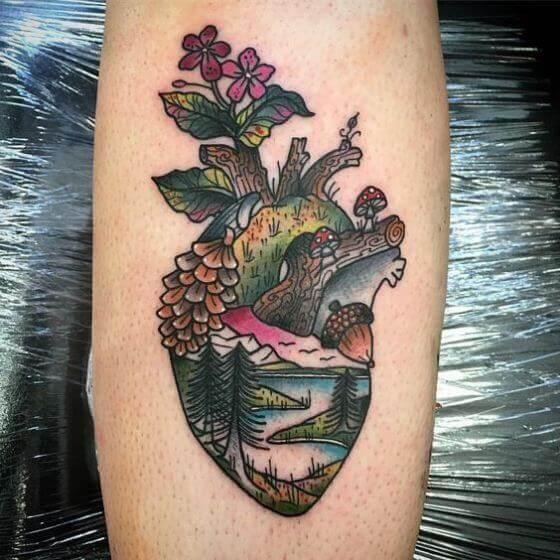 Mixed Heart tattoo image