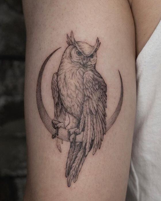 Owl Halloween Tattoo designs