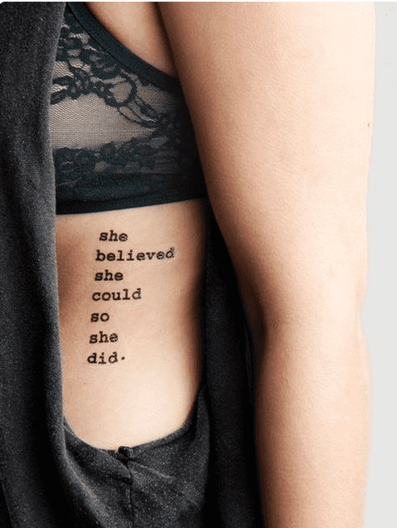 Quote Phrases Tattoos