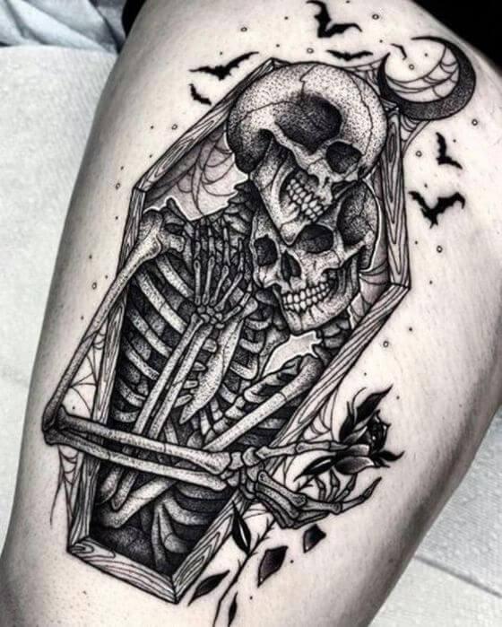Skeleton Halloween Tattoos