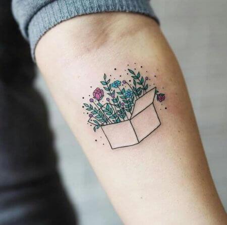 Temporary tattoo on arm (1)