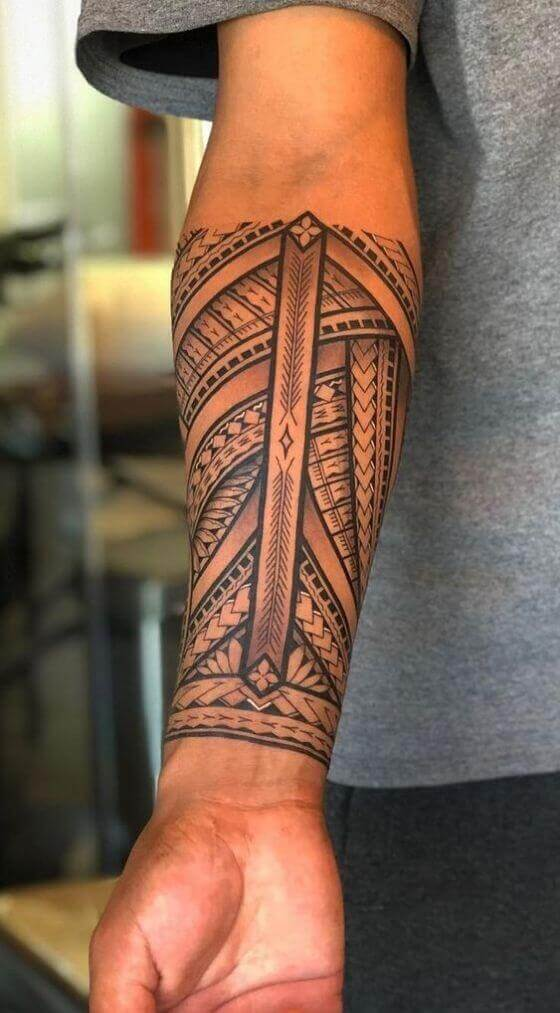 Amazing Maori tattoo ideas on Arm